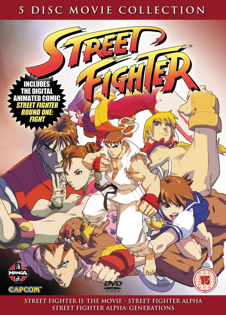 Five disc boxset of Street Fighter
